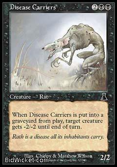 Disease Carriers, Urza's Destiny, Magic the Gathering
