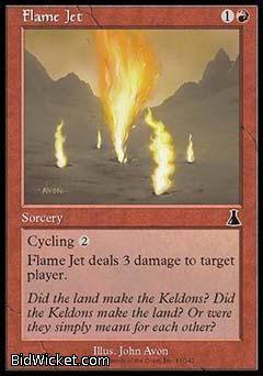 Flame Jet, Urza's Destiny, Magic the Gathering