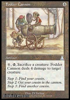 Fodder Cannon, Urza's Destiny, Magic the Gathering