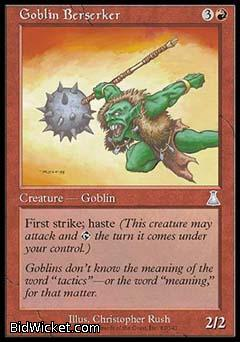 Goblin Berserker, Urza's Destiny, Magic the Gathering