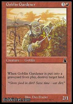 Goblin Gardener, Urza's Destiny, Magic the Gathering