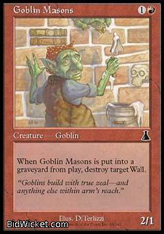 Goblin Masons, Urza's Destiny, Magic the Gathering