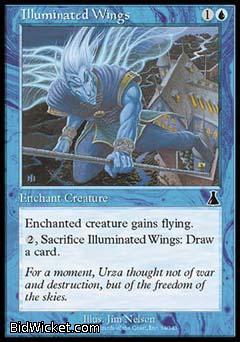 Illuminated Wings, Urza's Destiny, Magic the Gathering