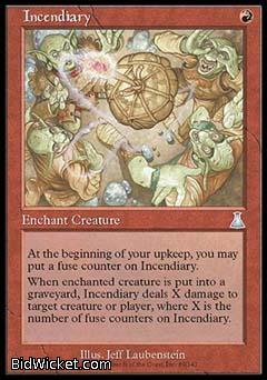 Incendiary, Urza's Destiny, Magic the Gathering