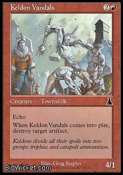 Keldon Vandals, Urza's Destiny, Magic the Gathering