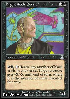 Nightshade Seer, Urza's Destiny, Magic the Gathering