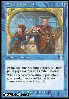 Private Research, Urza's Destiny, Magic the Gathering