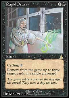 Rapid Decay, Urza's Destiny, Magic the Gathering