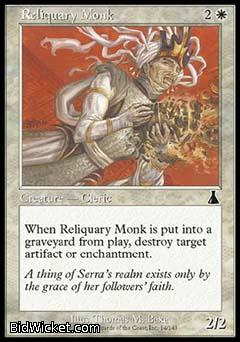 Reliquary Monk, Urza's Destiny, Magic the Gathering