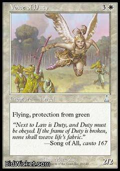 Voice of Duty, Urza's Destiny, Magic the Gathering