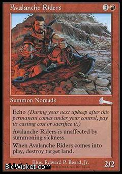 Avalanche Riders, Urza's Legacy, Magic the Gathering