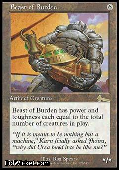 Beast of Burden, Urza's Legacy, Magic the Gathering