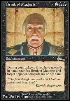 Brink of Madness, Urza's Legacy, Magic the Gathering