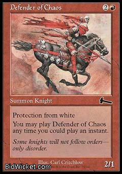 Defender of Chaos, Urza's Legacy, Magic the Gathering