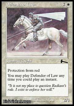 Defender of Law, Urza's Legacy, Magic the Gathering