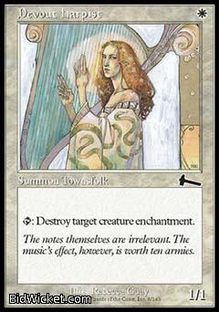 Devout Harpist, Urza's Legacy, Magic the Gathering