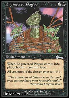 Engineered Plague, Urza's Legacy, Magic the Gathering
