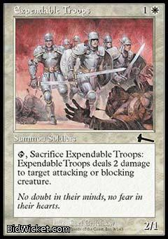 Expendable Troops, Urza's Legacy, Magic the Gathering