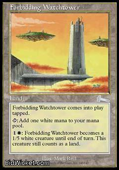 Forbidding Watchtower, Urza's Legacy, Magic the Gathering