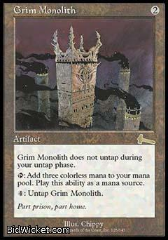 Grim Monolith, Urza's Legacy, Magic the Gathering