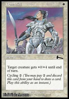 Iron Will, Urza's Legacy, Magic the Gathering