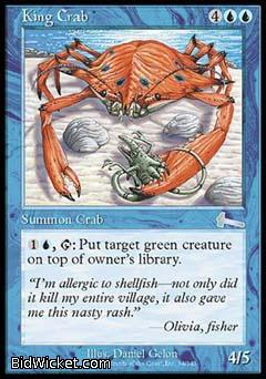 King Crab, Urza's Legacy, Magic the Gathering