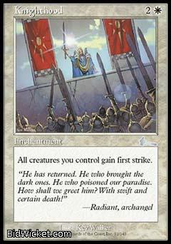 Knighthood, Urza's Legacy, Magic the Gathering
