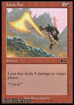 Lava Axe, Urza's Legacy, Magic the Gathering