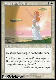 Peace and Quiet, Urza's Legacy, Magic the Gathering