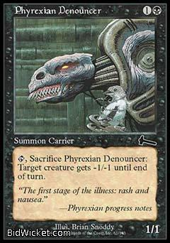Phyrexian Denouncer, Urza's Legacy, Magic the Gathering