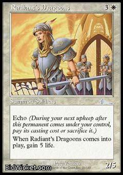 Radiant's Dragoons, Urza's Legacy, Magic the Gathering
