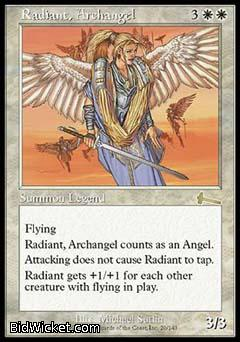 Radiant, Archangel, Urza's Legacy, Magic the Gathering