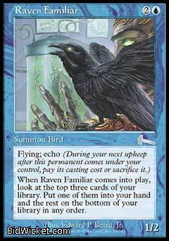 Raven Familiar, Urza's Legacy, Magic the Gathering