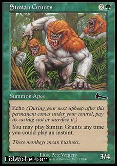 Simian Grunts, Urza's Legacy, Magic the Gathering