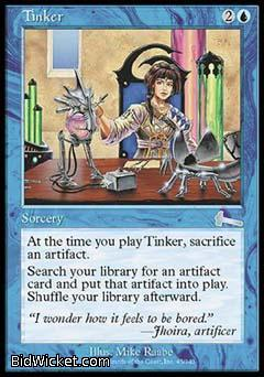 Tinker, Urza's Legacy, Magic the Gathering