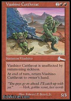 Viashino Cutthroat, Urza's Legacy, Magic the Gathering