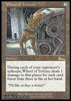 Wheel of Torture, Urza's Legacy, Magic the Gathering
