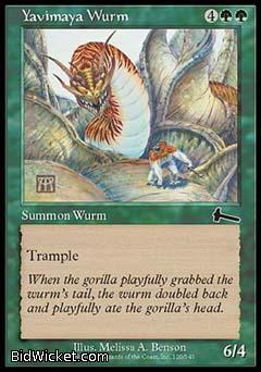 Yavimaya Wurm, Urza's Legacy, Magic the Gathering