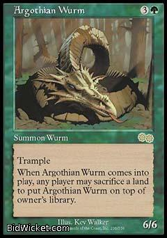 Argothian Wurm, Urza's Saga, Magic the Gathering