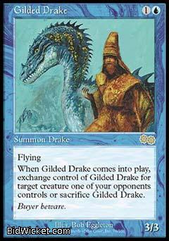 Gilded Drake, Urza's Saga, Magic the Gathering