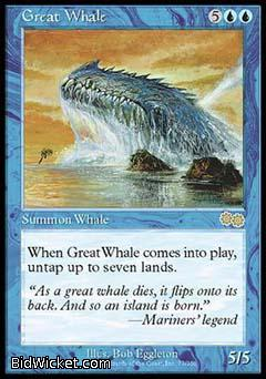 Great Whale, Urza's Saga, Magic the Gathering