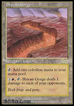 Shivan Gorge, Urza's Saga, Magic the Gathering