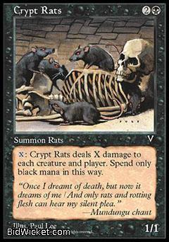 Crypt Rats, Visions, Magic the Gathering