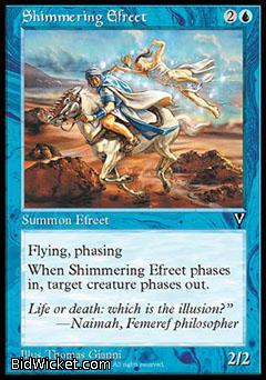 Shimmering Efreet, Visions, Magic the Gathering