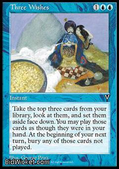 Three Wishes, Visions, Magic the Gathering