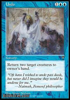 Undo, Visions, Magic the Gathering