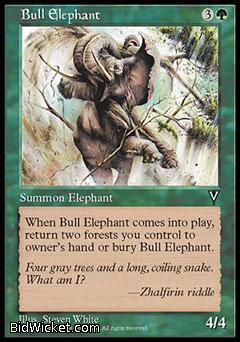Bull Elephant, Visions, Magic the Gathering