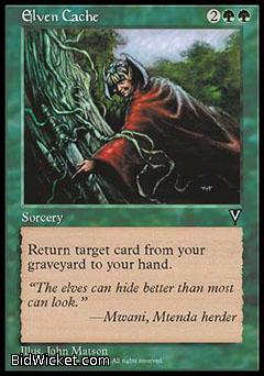 Elven Cache, Visions, Magic the Gathering