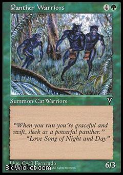 Panther Warriors, Visions, Magic the Gathering