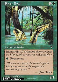 River Boa, Visions, Magic the Gathering